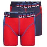 Beeren 2-Pack Jongens boxershorts Mix&Match Blauw/Rood