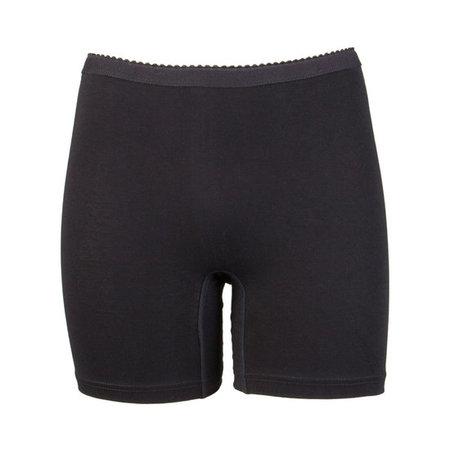 2-pack Dames boxershort softly met lange pijp zwart