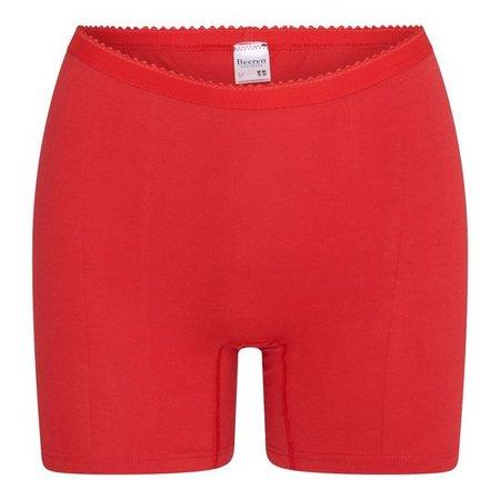 2-pack Dames boxershort softly met lange pijp Rood