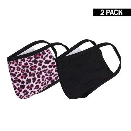 Meisjes 2-Pack Mondkapjes Panter/Zwart 4-9 jaar & 10-16 jaar